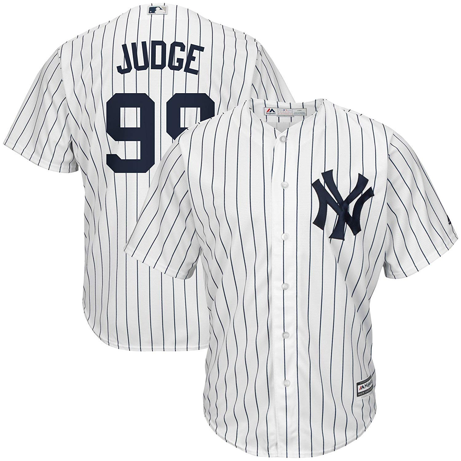cd6801918f9 Details about Aaron Judge  99 York Yankees MLB Majestic Youth Replica Jersey  - Medium 10-12