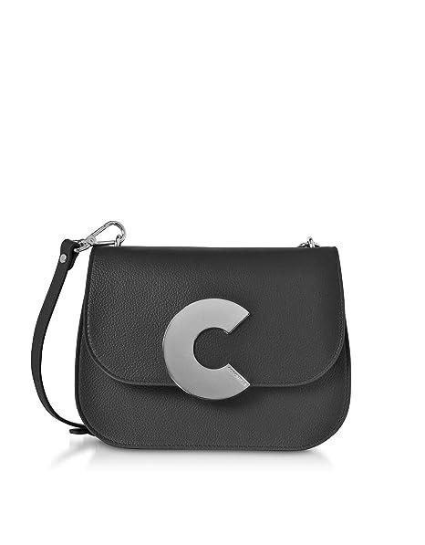 4f80d5abb1c3 Coccinelle Women's E1cn5120101001 Black Leather Shoulder Bag: Amazon ...