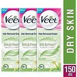 Veet Silk and Fresh Hair Removal Cream - 50 g (Dry Skin, Buy 2 Get 1 Free)