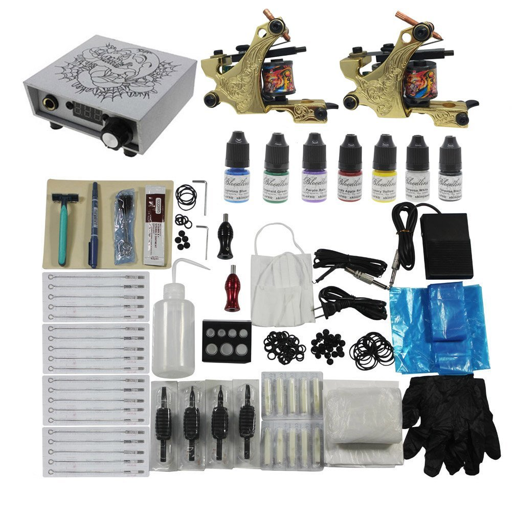 Top 5 professional best tattoo kits reviews machines for Best tattoo starter kit