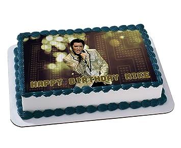 ELVIS PRESLEY Quarter Sheet Edible Photo Birthday Cake Topper