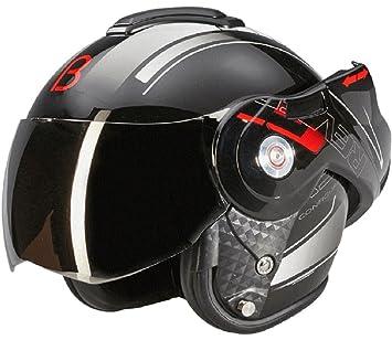 Beon B702 Reverse - Casco de motocicleta modular, en color negro brillante