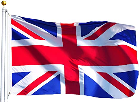 Amazon.com : G128 United Kingdom UK Flag British Union Jack Flag ...