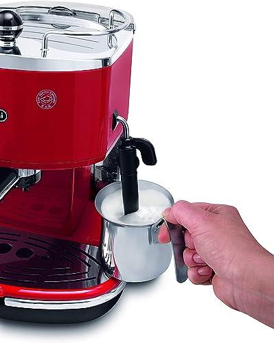 DeLonghi Icona ECOV 311 Siebträgermaschine mit Milchaufschäumdüse für die Zubereitung von cremigem Milchschaum