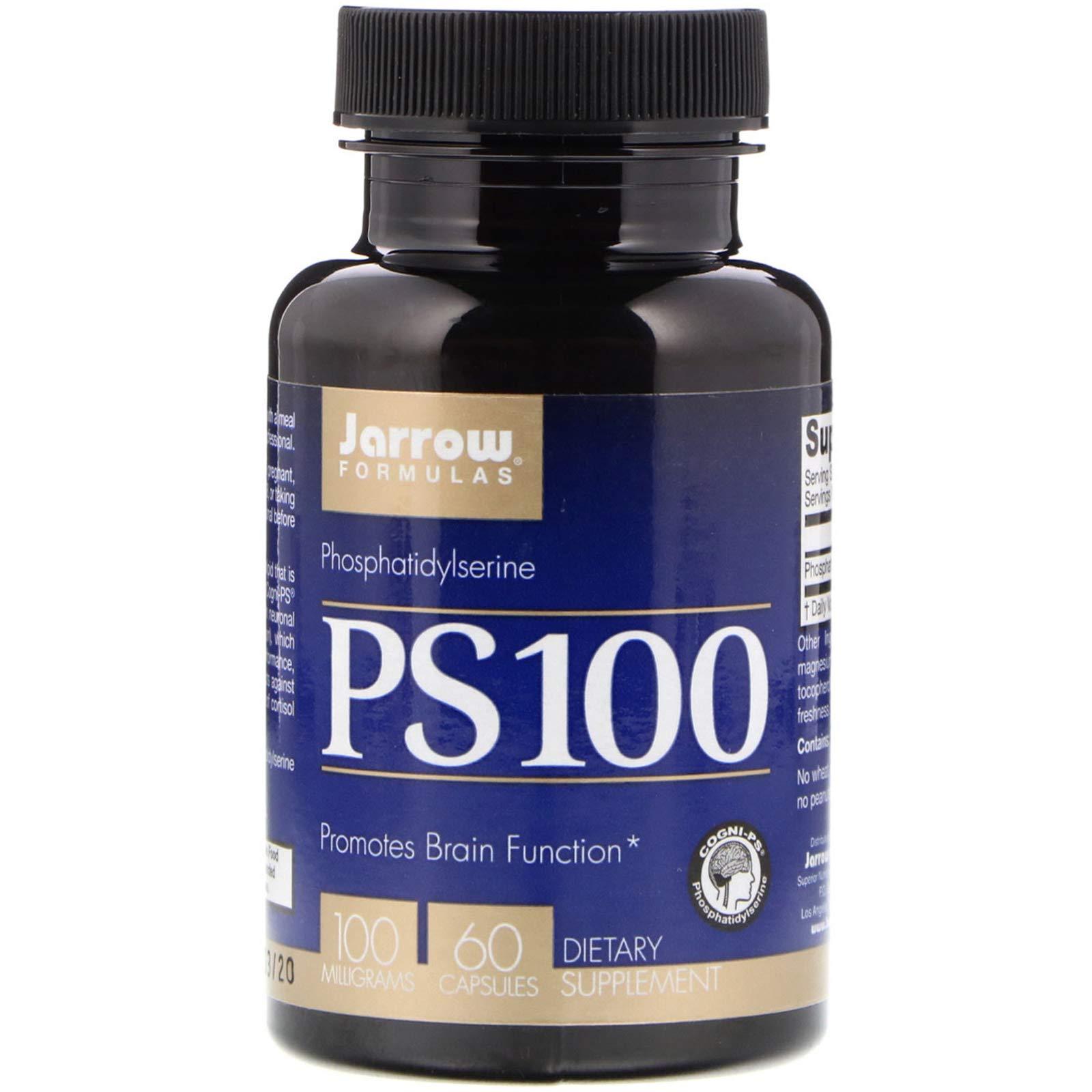 Jarrow Formulas, PS-100, Phosphatidylserine, 100 mg, 60 Capsules