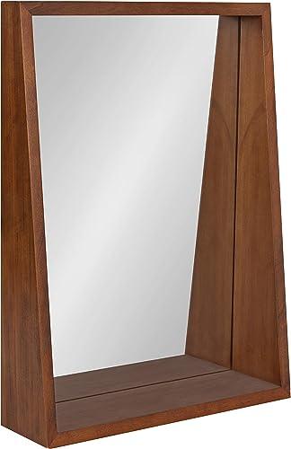 Kate and Laurel Hutton Modern Wood Framed Mirror