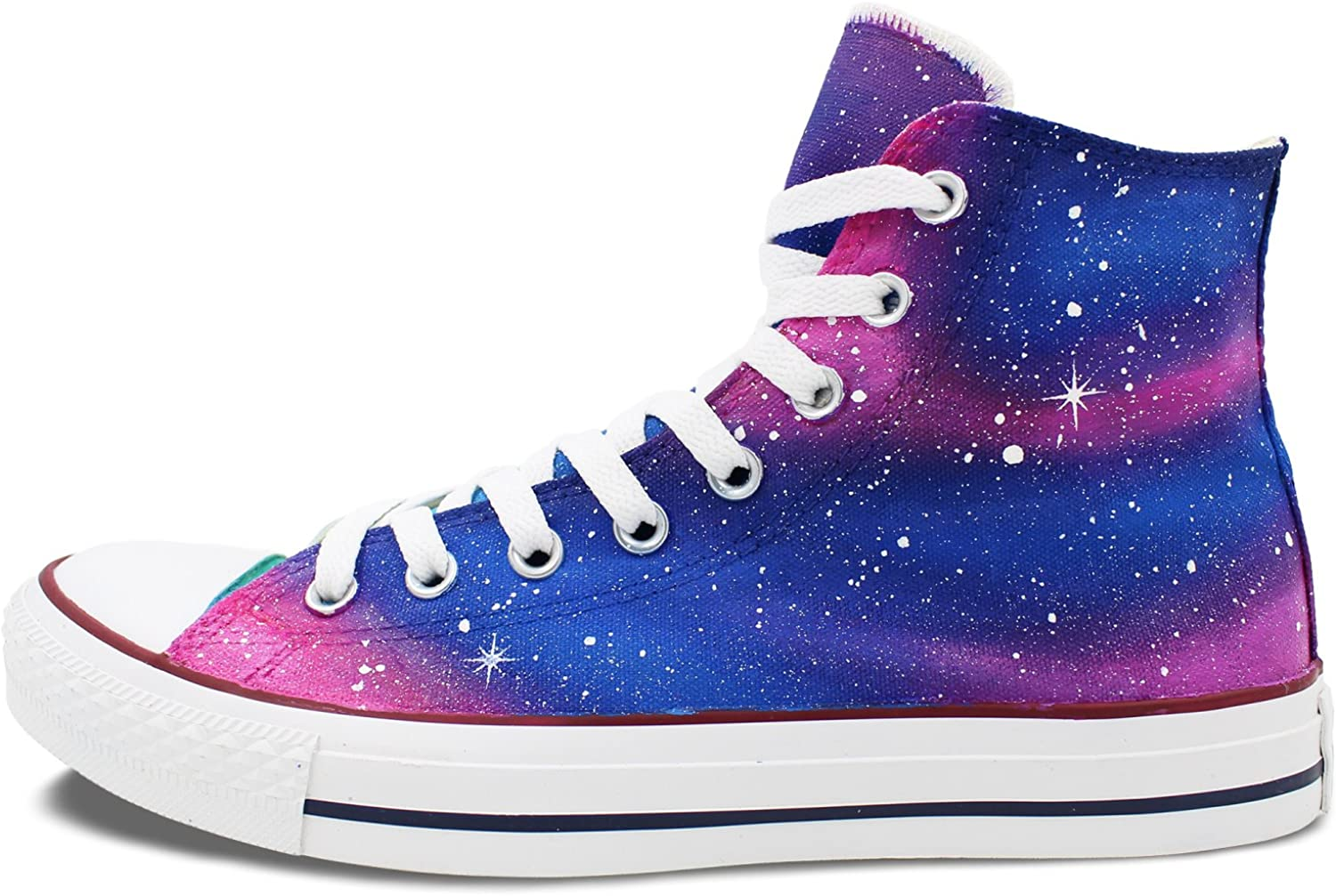 Wen Hand Painted Design Shoes Blue Pink