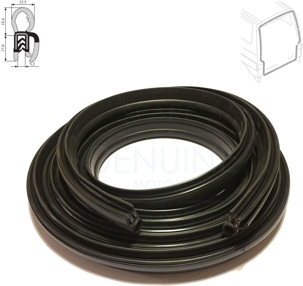 FRONT RIGHT DOOR WEATHERSTRIP RUBBER SEAL FITS VW TRANSPORTER T4 MK4 1990-2003