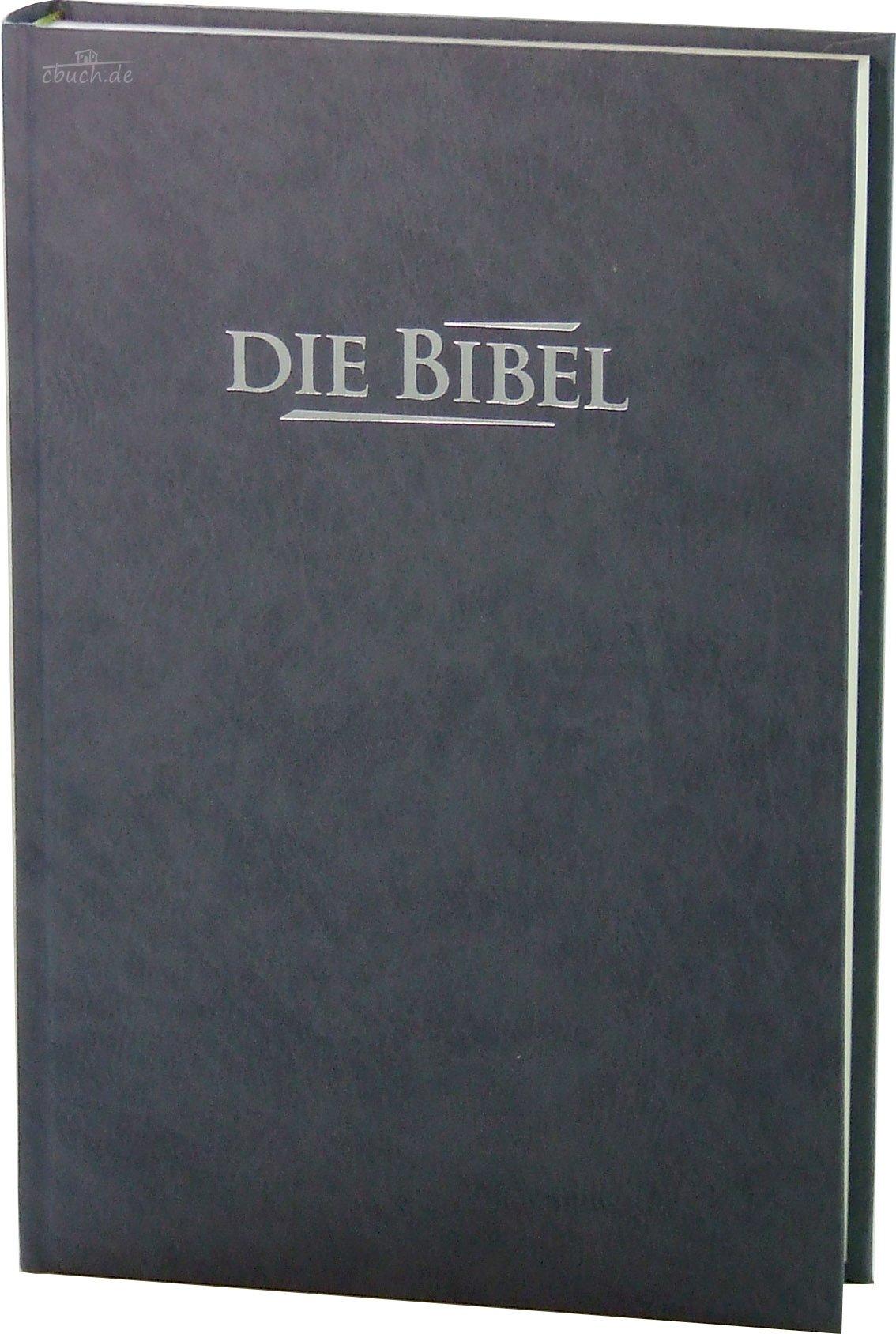 Die Bibel - Standardausgabe (Baladek, grau-blau): Elberfelder Übersetzung 2003, Edition CSV Hückeswagen, Hardcover, grau-blau, Blindschnitt, mit Karten