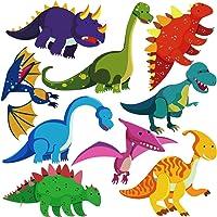 DEKOSH Dinosaur Wall Decals for Nursery Decor | Jurassic World T-rex Colorful Peel & Stick Animal Kids Wall Stickers for…