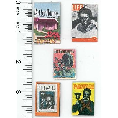 International Miniatures by Classics Dollhouse Miniature Set of 5 Vintage Magazines: Toys & Games