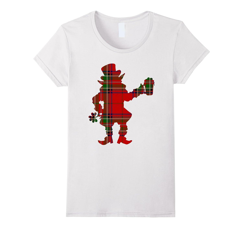 Christmas Leprechaun Irish Patrick Scottish Plaid T-shirt