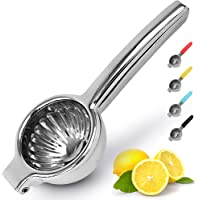 Zulay Kitchen Lemon Squeezer Stainless Steel With Premium Quality Heavy Duty Solid Metal Squeezer Bowl - Large Manual…