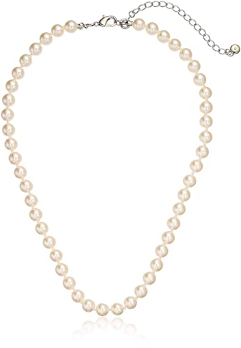 92b27d4daed4 Amazon Essentials Cream Colored Simulated Pearl Strand Necklace (8mm),  18 quot  + 3 quot