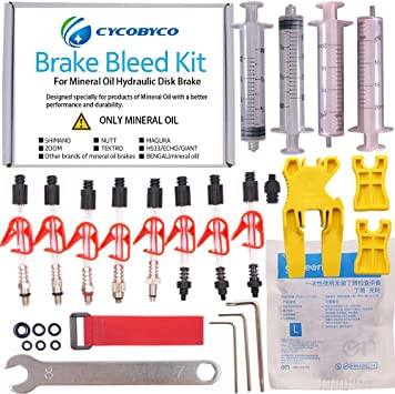 HYDRAULIC DISC BRAKE BLEED BLEEDING KIT FITTING ADAPTOR TUBE FOR SHIMANO