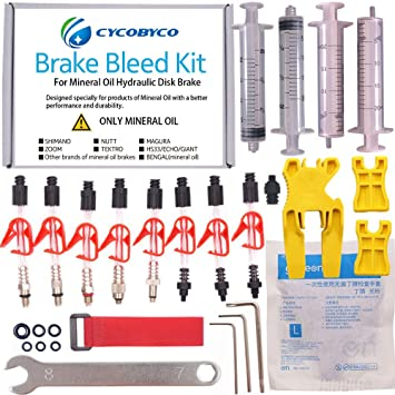 58b462a5279 (Genaral kit) - Cycobyco Mineral Oil Bicycle Hydraulic Disc Brake Bleed Kit  For All