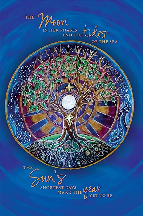 Amazon tree free greetings econotes 12 count winter solstice tree free greetings econotes 12 count winter solstice card set with envelopes 4quot m4hsunfo