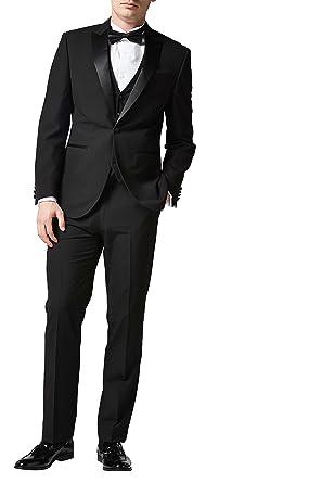 next Hombre Traje Esmoquin: Chaqueta Negro EU 117 Short (UK 46S ...