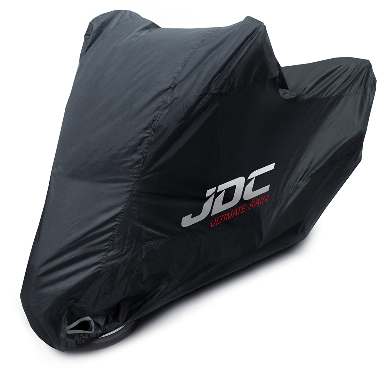 JDC Housse moto 100 % étanche – ULTIMATE RAIN (Robuste, doublure souple, panneaux résistants à la chaleur, coutures étanchéifiées) - L panneaux résistants à la chaleur coutures étanchéifiées) - L