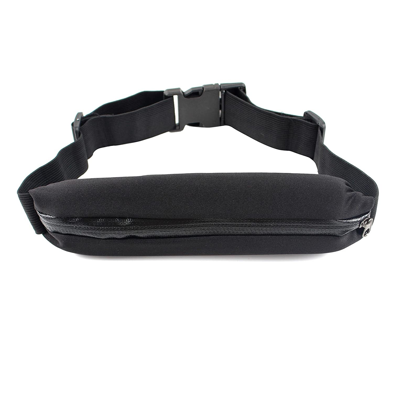 2-TECH Sportgürteltasche Handygürtel Gürteltasche Laufgürtel in schwarz ideal für Jogging Laufen für Handy, Schlüssel Karten usw. Running Belt