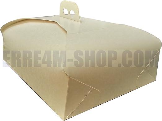 Porta tartas de cartulina cuadrado de 25 x 25 cm 5 piezas: Amazon.es: Hogar