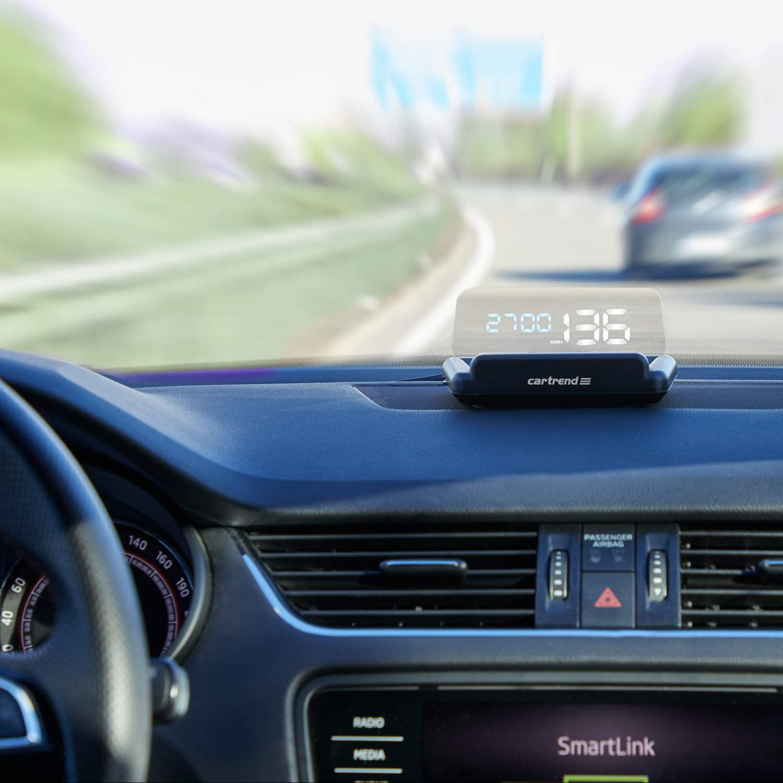 Cartrend 10632 Head Up Obd2 Hud Display Gps Speed Meter Car Speedometer Water Temperature Meter Motor Speed Auto