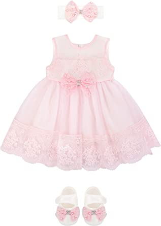 Premium Quality Princess Non-Slip Newborn Baby Toddler Girl Beautiful Lace Shoes 0-3 Month Pink fast-shop
