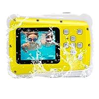 """Vmotal GDC5261 Fotocamera Digitale Impermeabile con Zoom Digitale 4X / 8MP / 2"""" Schermo LCD TFT/Camera Impermeabile per Bambini Regalo di Natale (Giallo)"""