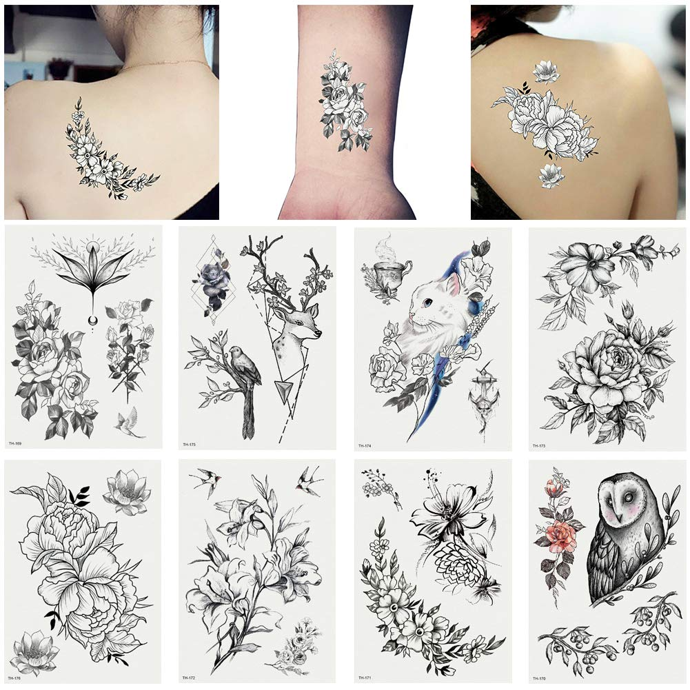 Amazon.com : gainvictorlf Refreshing Flowers Animals Temporary Tattoo  Stickers Waterproof Body Art Decal - TH-176 : Beauty