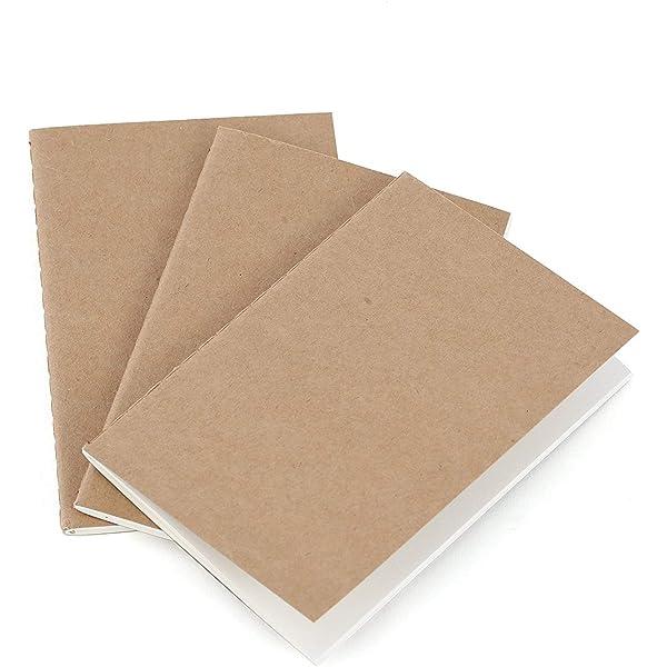 Recambio de papel cuaderno de viaje. Paquete de 3 libretas ...