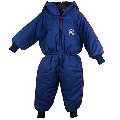 b512825b68a6 Kids Childrens Waterproof Padded Rainsuit