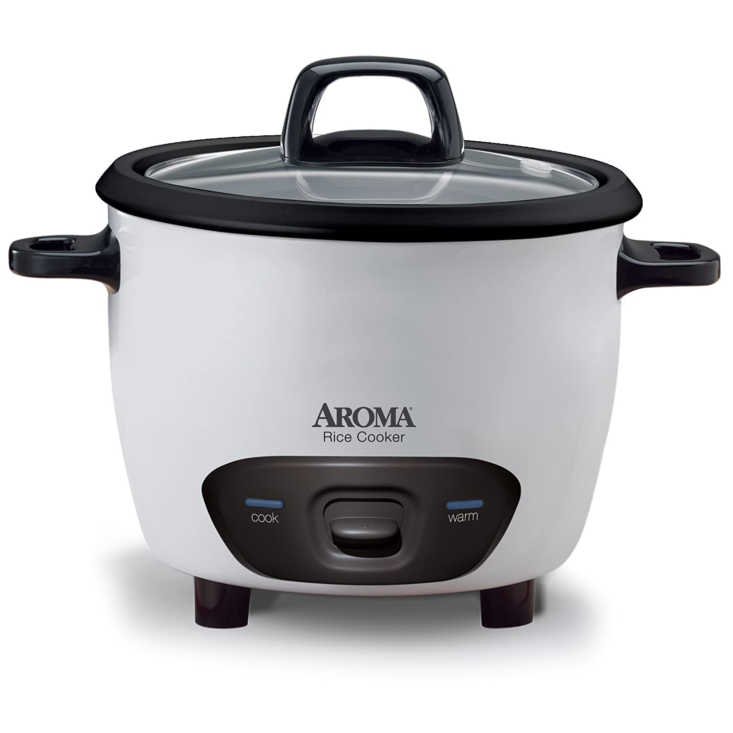 Aroma Housewares 6-Cup Cooked 3-Cup UNCOOKED Pot-Style Rice Cooker ARC-743G