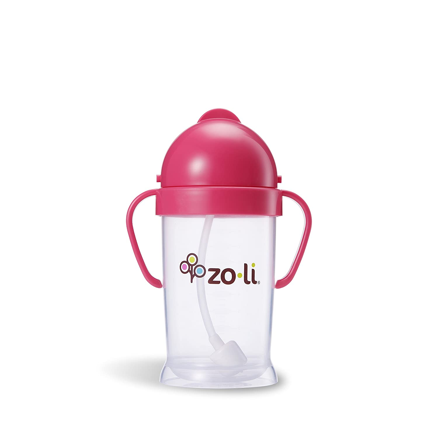 9 Oz ZOLI BOT XL Straw Sippy Cup Pink Large