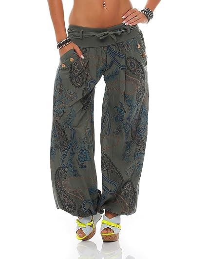 ZARMEXX dames bloomers pantalon sarouel été Pluder Aladin pantalons de  plage ornement pantalon imprimé de coton  Amazon.fr  Vêtements et  accessoires 102a2d1e3c49