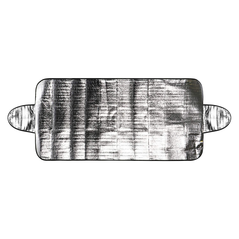 Sole Copertura antigelo Auto per Il Parabrezza Anche Contro Radiazioni UV Polvere 02 Pezzi - 150x70 Alluminio + Logo Ghiaccio Gelo e Neve com-four/® 2X Copertura per Il Parabrezza in Inverno