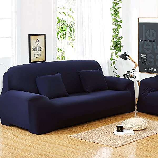 Womdee Fundas elásticas para sofás de 1/2/3 plazas, Color ...