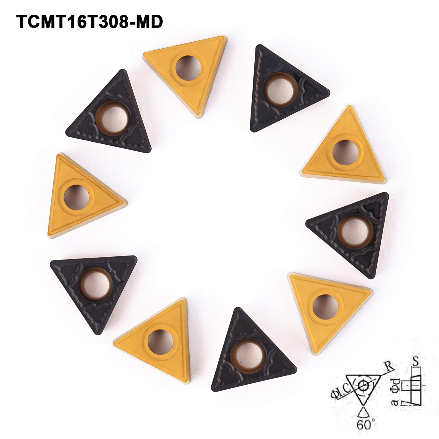 TCMT16T308 for Turning Cutting Tools 10 PCS FomaSP Carbide Inserts for Steel TCMT32.52