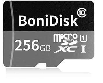 bonidisk 256 GB Tarjeta De Memoria Micro SDXC Class 10, para Smartphones y tabletas, con Adaptador SD