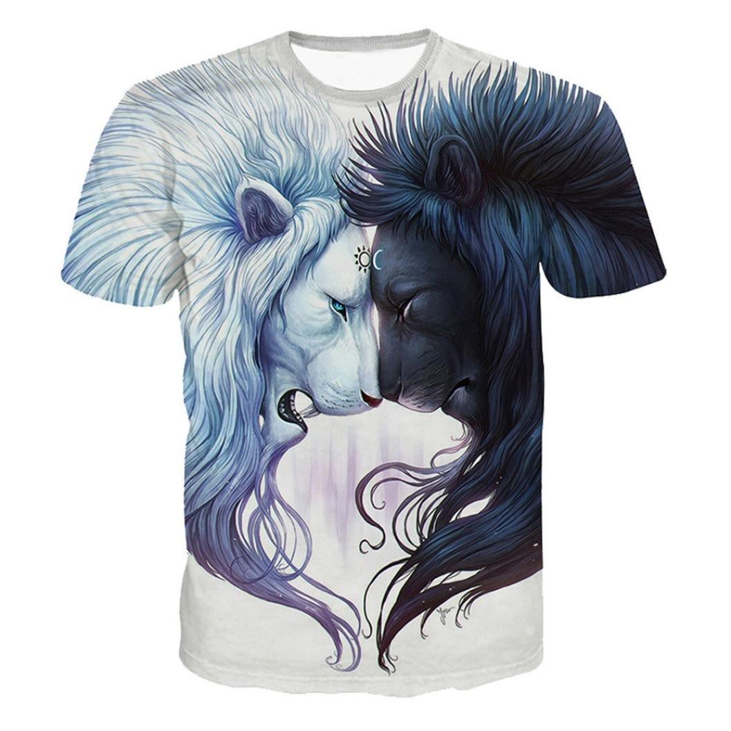 Abbigliamento Uomo, ASHOP T Shirt Uomo Manica Corta, Maglietta Casual da Uomo Casual a Manica Corta Estiva Stampata 3D da Uomo