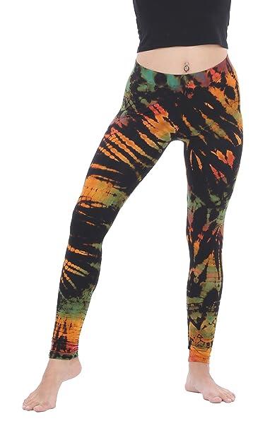 b4cbb8fa45442 CandyHusky Women Tie Dye Yoga Pants Joggers Dance Workout Running Gym  Leggings (XL/XXL