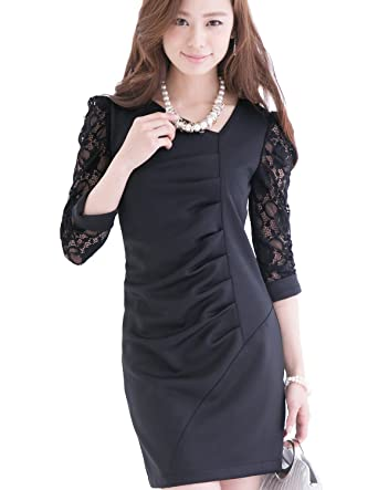 Amazon Pourvous Womens Formal Dress 34 Length Tight Line