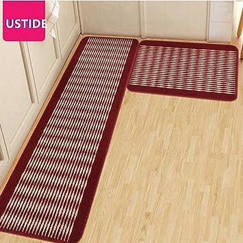 Ustide Streifen Muster Kuche Teppich Set Kuche Boden Teppich