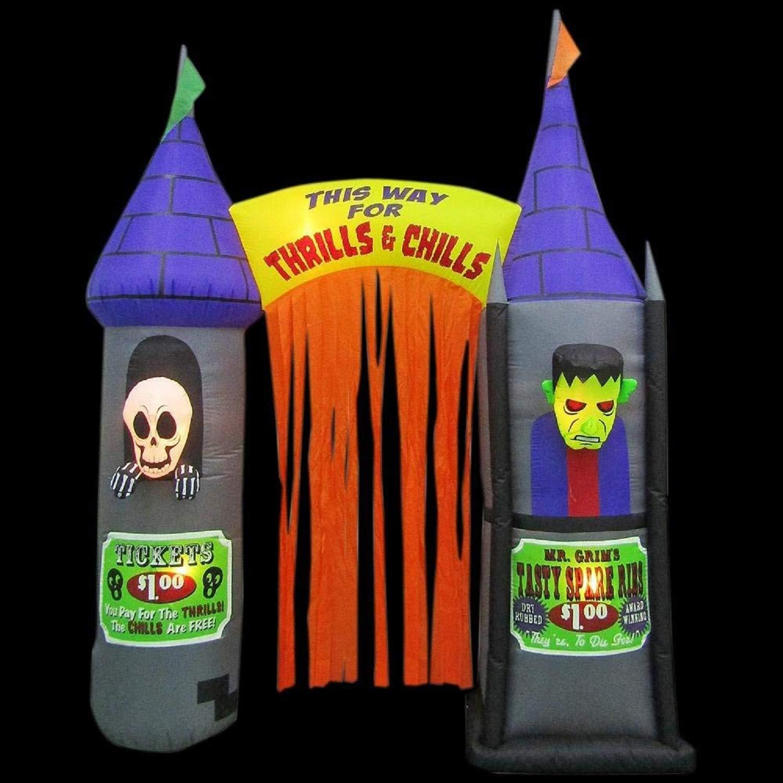 Amazon.com: Gemmy - Arco hinchable para Halloween con ...