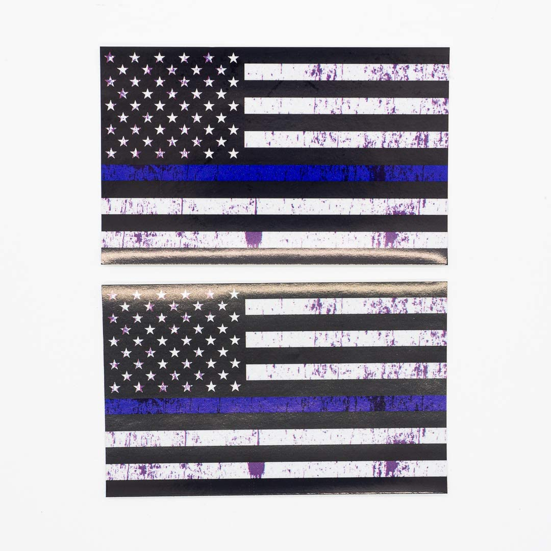 Reflective 3M American USA Flag Decal BLM Black Ops Thin Blue line Truck car SUV Decals Stickers Window Helmet Laptop Toolbox