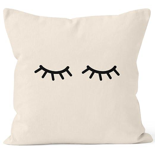 MoonWorks® Funda de cojín con diseño de ojos cerrados y ...