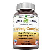 Amazing Nutrition Ginseng Complex - 1000 mg per Serving - Supports Healthy Immune...