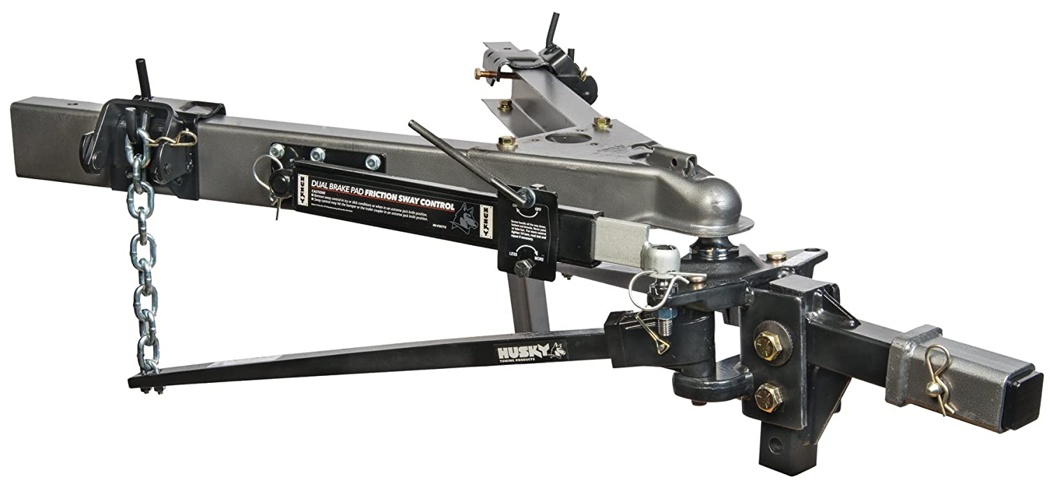 Husky 31621 Lightweight Pin Trunnion Bar Weight Distribution Hitch with Sway Control and Ball
