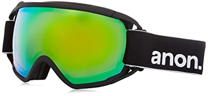 e9814ed60a4 Image Unavailable. Image not available for. Color  Anon Circuit Goggles  Black Sonar Green Lens Mens