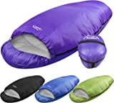 Andes Barrel 4 Season XL Camping Sleeping Bag Warm 400GSM Filling, Ideal For Camping, Festivals Waterproof, Compression Carry Bag Included