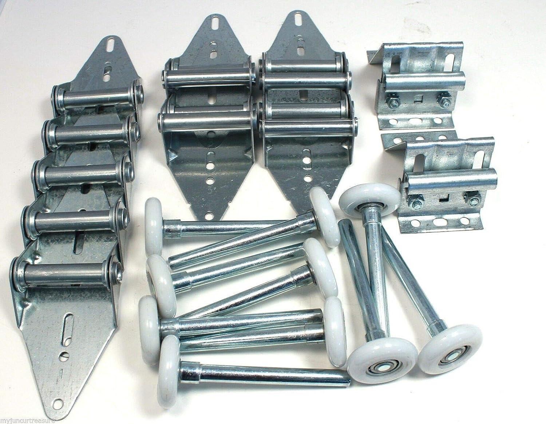 9x7 or 8x7-Rollers,Hinges,Brackets Garage Door Kit 18 Gauge standard Duty